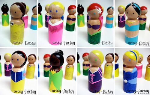 Princess Peg Dolls Artsy Fartsy Mama