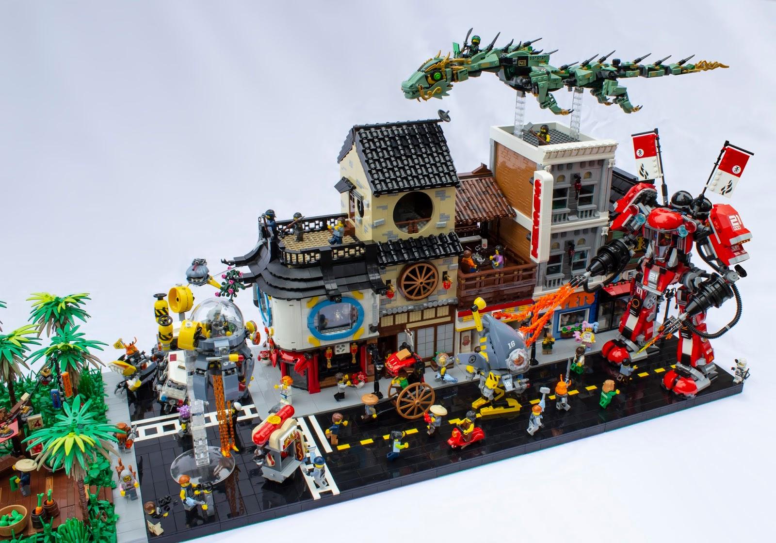 AnJ's Brick Blog: Lego Moc: Attack on Ninjago City