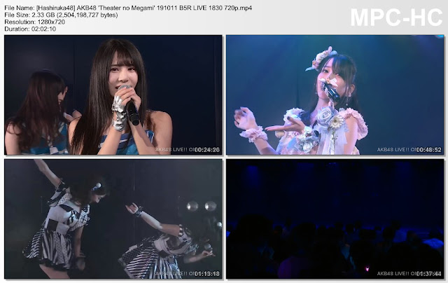 AKB48 'Theater no Megami' 191011 B5R LIVE 1830