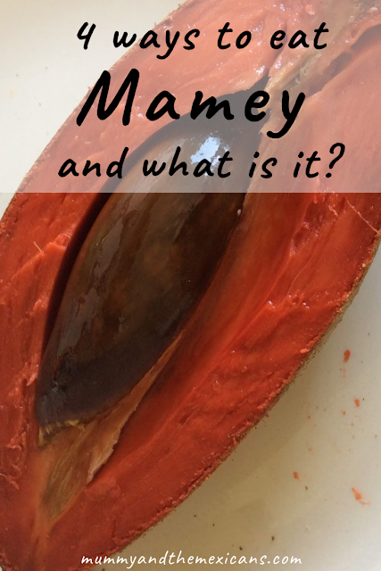 4 Ways To Eat Mamey - Image Shows An Oval-Shaped Fruit Cut In Half To Show Bright