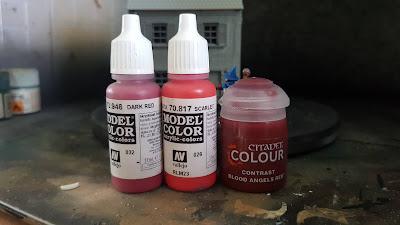 contrast paints as a wash