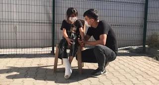 تركيا تسعف طفلة سورية أُصيبت برصاص الأمن اليوناني (فيديو)