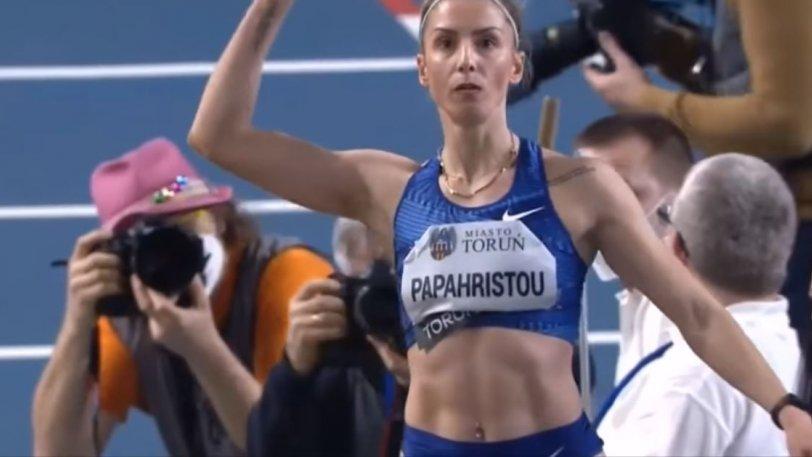 """Η Παπαχρήστου """"πέταξε"""" στα 14.60μ. – Κορυφαία επίδοση στον κόσμο! ("""