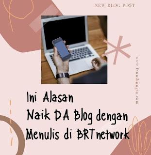 Cara naik DA blog, cara menaikkan DA blog, apa itu BRTnetwork, bagaimana menulis di BRTnetwok
