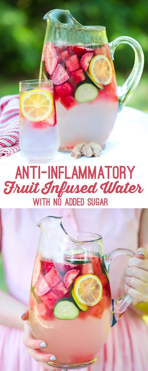 fruit & ginger anti-inflammatory infused water