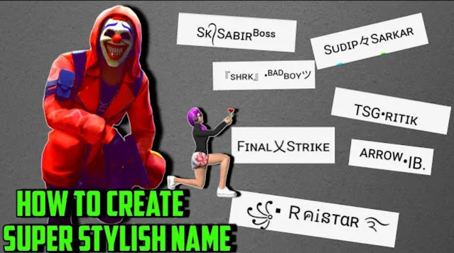 How to create Stylish nicknames for Free Fire and PUBG