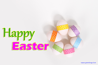 Happy Easter celebrations Easter greetings with beautiful Easter Eggs