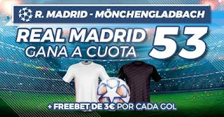 Paston Megacuota Real Madrid vs Mönchengladbach 9-12-2020