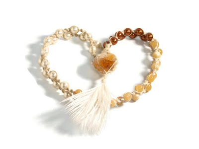 citrine bohemian necklace