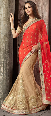 Latest-indian-bridal-lehenga-sarees-2017-with-new-blouse-designs-5