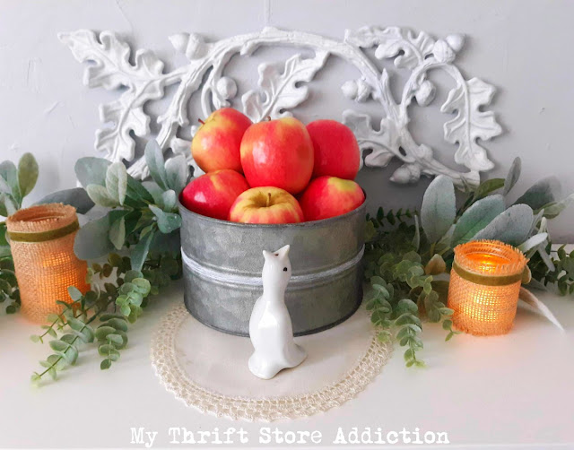 fall tablescape with jadeite