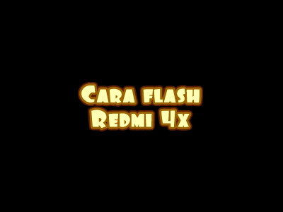 Flash redmi 4x