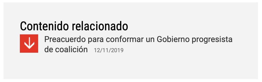 Acuerdo con Podemos