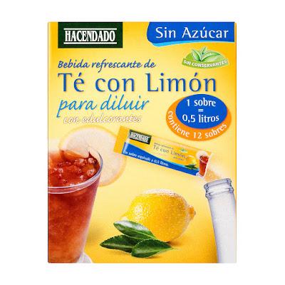 Bebida refrescante de té con limón para diluir Hacendado