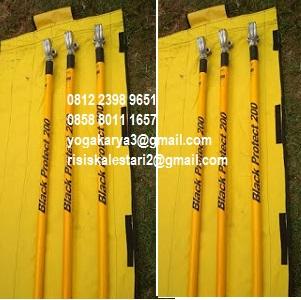 Jual Black Protect 150KV Stick 140cm Grounding Set di Jakarta