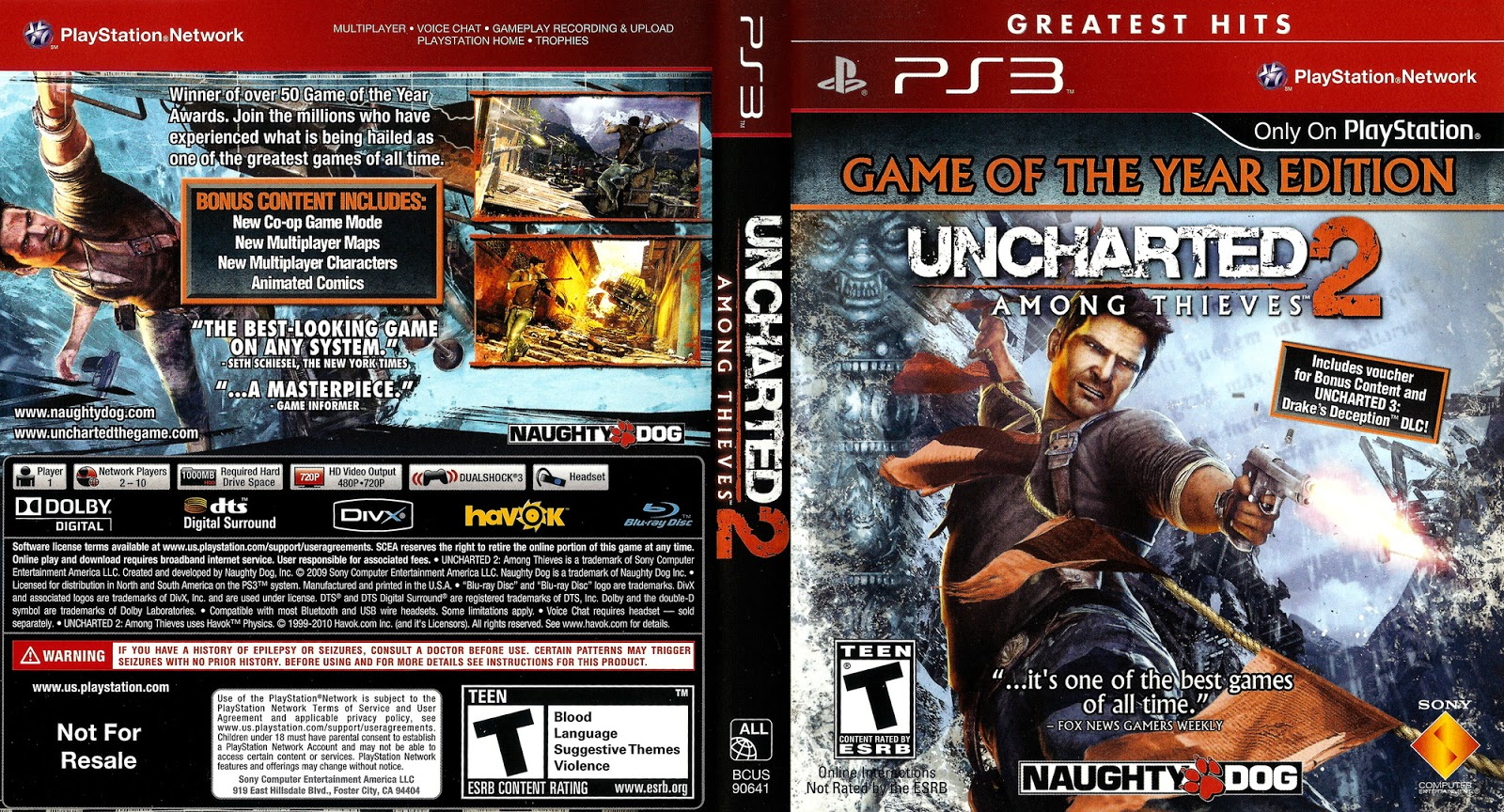 Uncharted 2: Among Thieves Box Shot for PlayStation 3 - GameFAQs