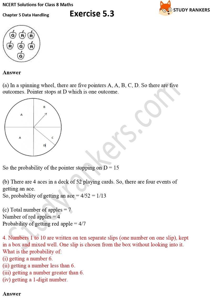 NCERT Solutions for Class 8 Maths Ch 5 Data Handling Exercise 5.3 2