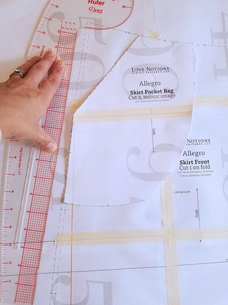 Paperbag Waist Allegro Skirt Hack // Sewing For Women