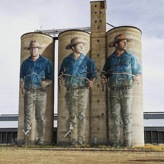 Amazing Mural Art Ideas: Huge Silo Arts in Australia