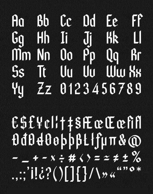 Font Modern Blackletter Grafis - Kodex Modern Blackletter Font