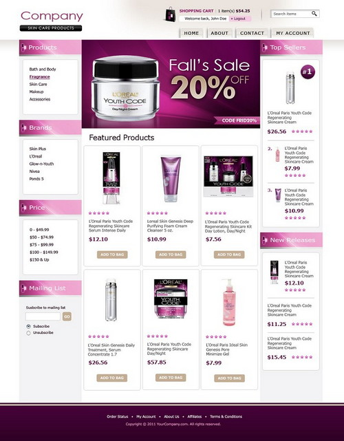 Naturale Beauty E-Store Template