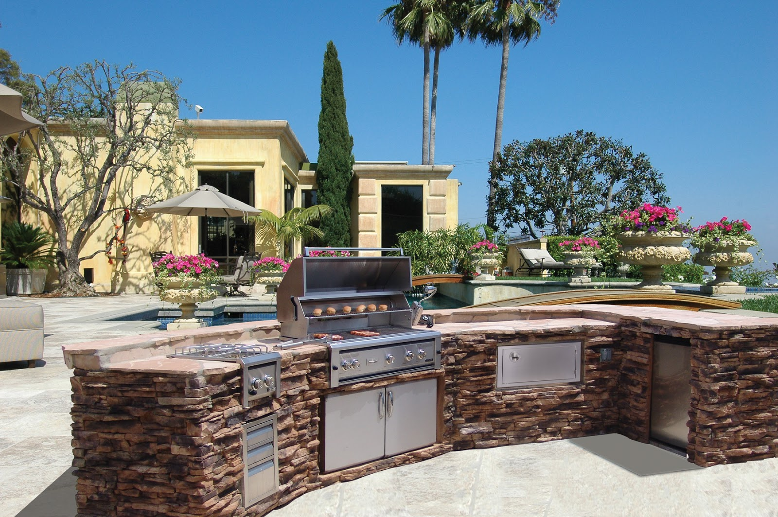 Island In Kitchen Mode Concrete Luxury Outdoor Kitchens