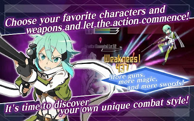 Download Sword Art Online Memory Defrag MOD Unlimited Memory Diamond English Version v1.10.2 Apk Terbaru