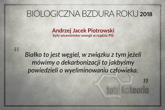 Andrzej Jacek Piotrowski Biologiczna Bzdura Roku 2018