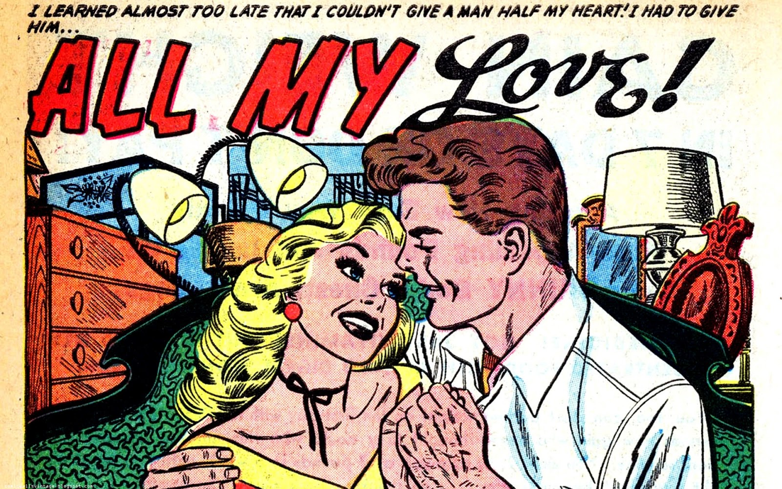 True Secrets Vintage Comic Wallpaper