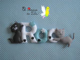 nombre-fieltro-felt-feltro-Roc-gatitos-elbosquedelulu-name-banner-decoración-infantil-regalo-nacimiento-personalizado-baby-room