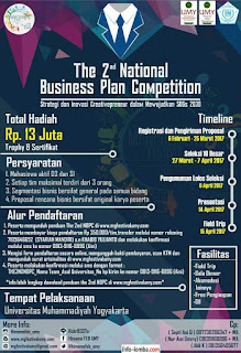 The 2nd National Bussiness Plan Competition HIMAMA UMY