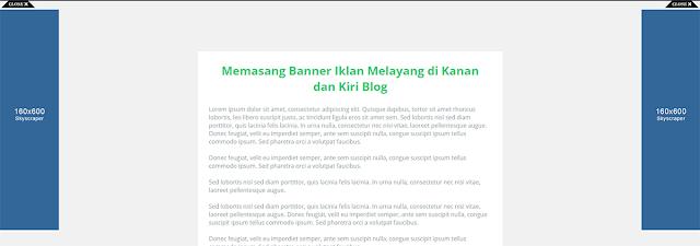 Banner Iklan Melayang di Kanan dan Kiri Blog