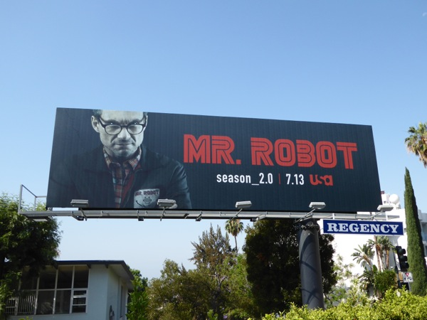 Christian Slater Mr Robot season 2 billboard