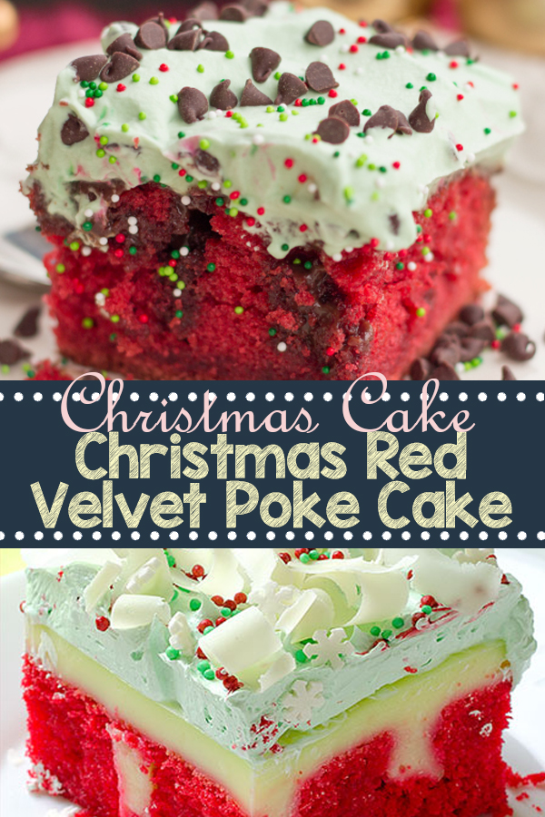Christmas Red Velvet Poke Cake | Cake Recipes From Scratch, Cake Recipes Easy, Cake Recipes Pound, Cake Recipes Funfetti, Cake Recipes Vanilla, Cake Recipes Bundt, Cake Recipes Homemade, Cake Recipes Chocolate, Cake Recipes Birthday, Cake Recipes Box, Cake Recipes Coffee, Cake Recipes Dump, Cake Recipes Poke, Cake Recipes Sheet, Cake Recipes Healthy, Cake Recipes Strawberry. #christmascake #redvelvet #pokecake #christmasredvelvet