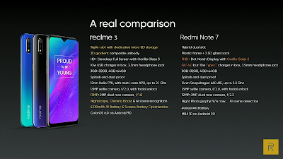 Realme 3 Real Comparison To Redmi Note 7