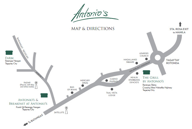 Antonio's Breakfast Map