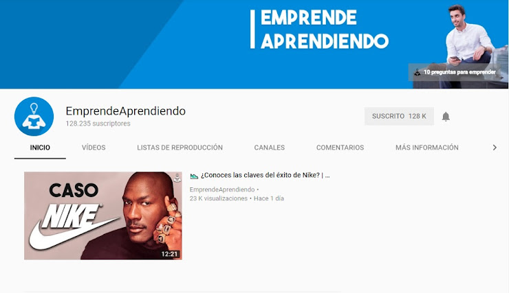 Canal de Youtube Emprende Aprendiendo