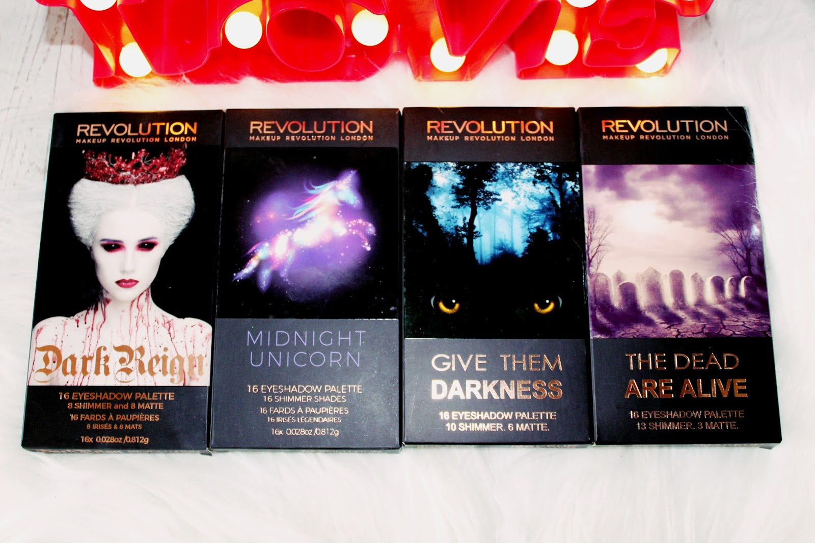 Dark Reign, Midnight Unicorn, Give Them Darkness, The Dead Are Alive / MAKEUP REVOLUTION