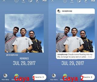 hasil repost instagram