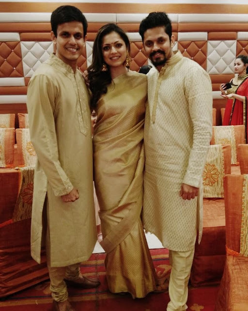 Drashti Dhami with Neeraj and Jaisheel