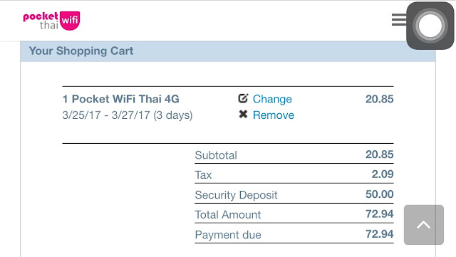 Pocket WiFi Thai
