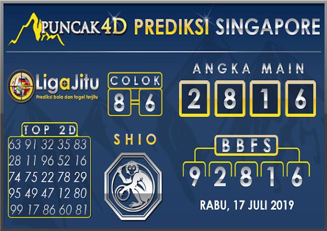 PREDIKSI TOGEL SINGAPORE PUNCAK4D 17 JULI 2019
