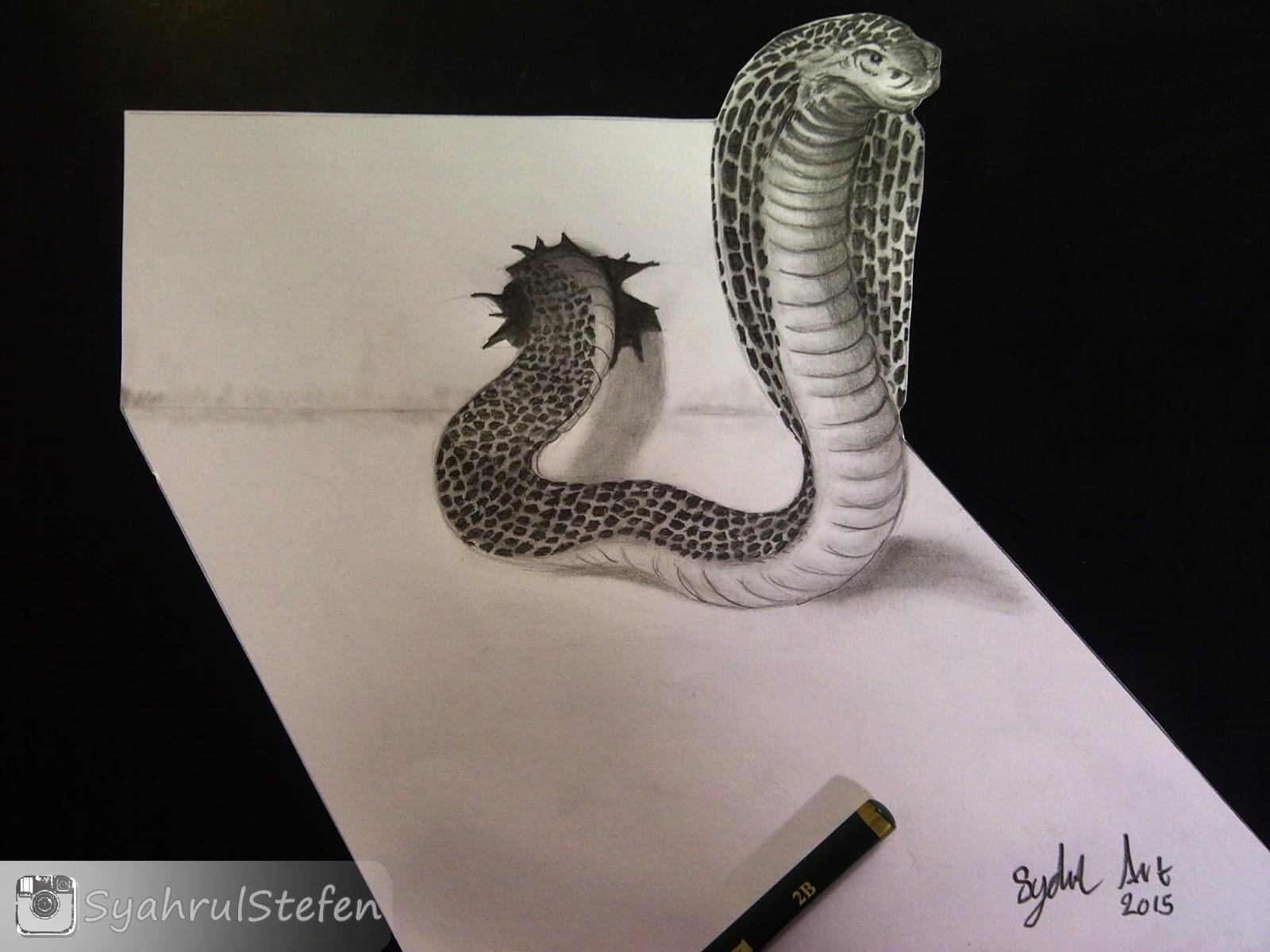 Lukisan 3d goresan pensil lukisan 3d dengan mengunakan pensil