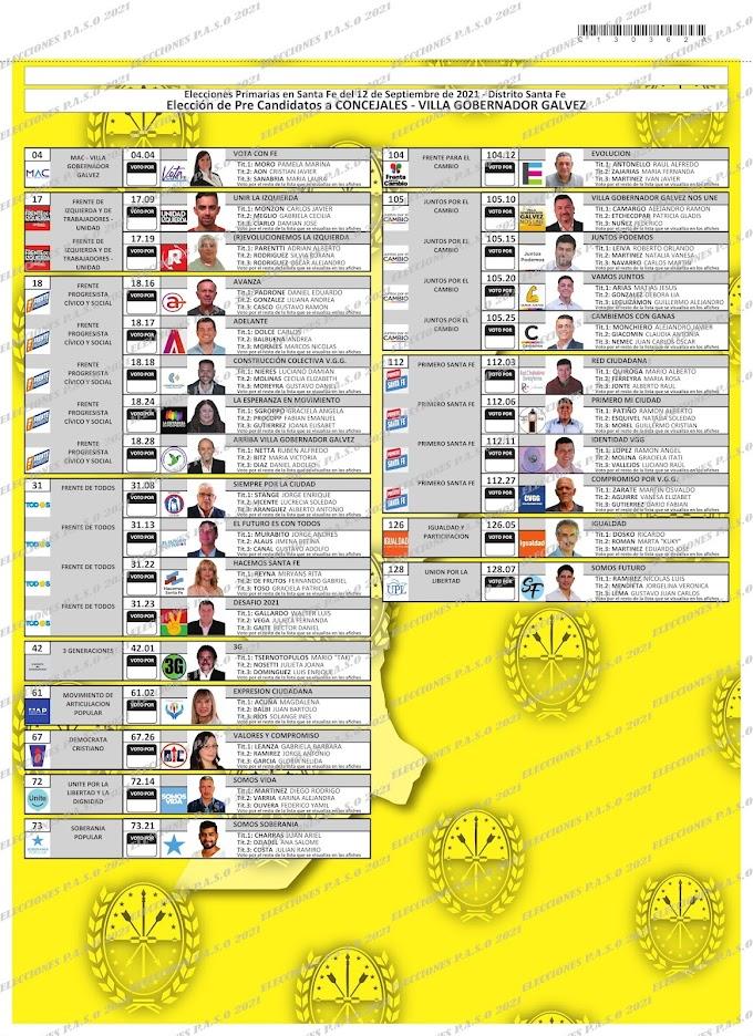 La Boleta Única de VGG para concejales y consultá dónde votás