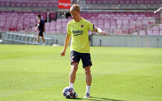 Barca hold intersquad friendly in Sunday training ahead of Napoli clash