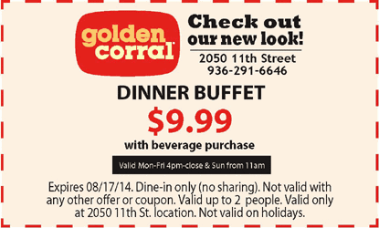 photograph relating to Golden Corral Coupons Buy One Get One Free Printable named Golden corral discount coupons orlando 2018 : Crest cleaners coupon codes