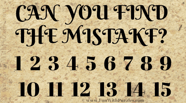 Can you find the mistake? 1 2 3 4 5 6 7 8 9 10 11 12 13 14 15 16