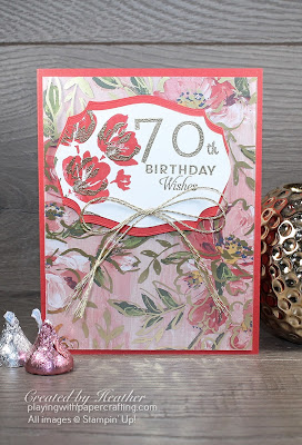 70th birthday card using fine art floral suite 1