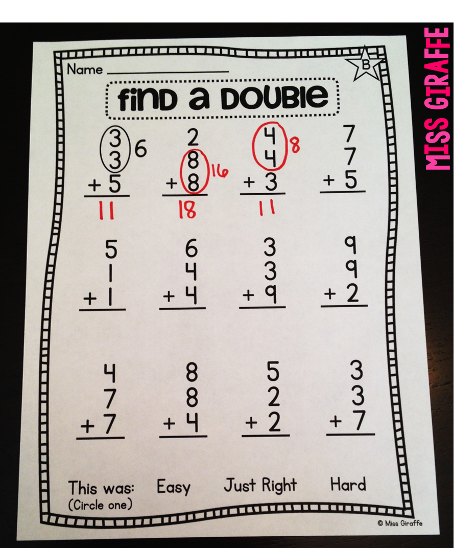 Find a double to add 3 numbers and other great mental math strategies for adding 3 addends