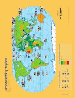 Apoyo Primaria Atlas de Geografía del Mundo 5to. Grado Capítulo 4 Lección 1 Recursos Minerales y Energéticos